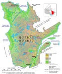 Quebec Relief Map